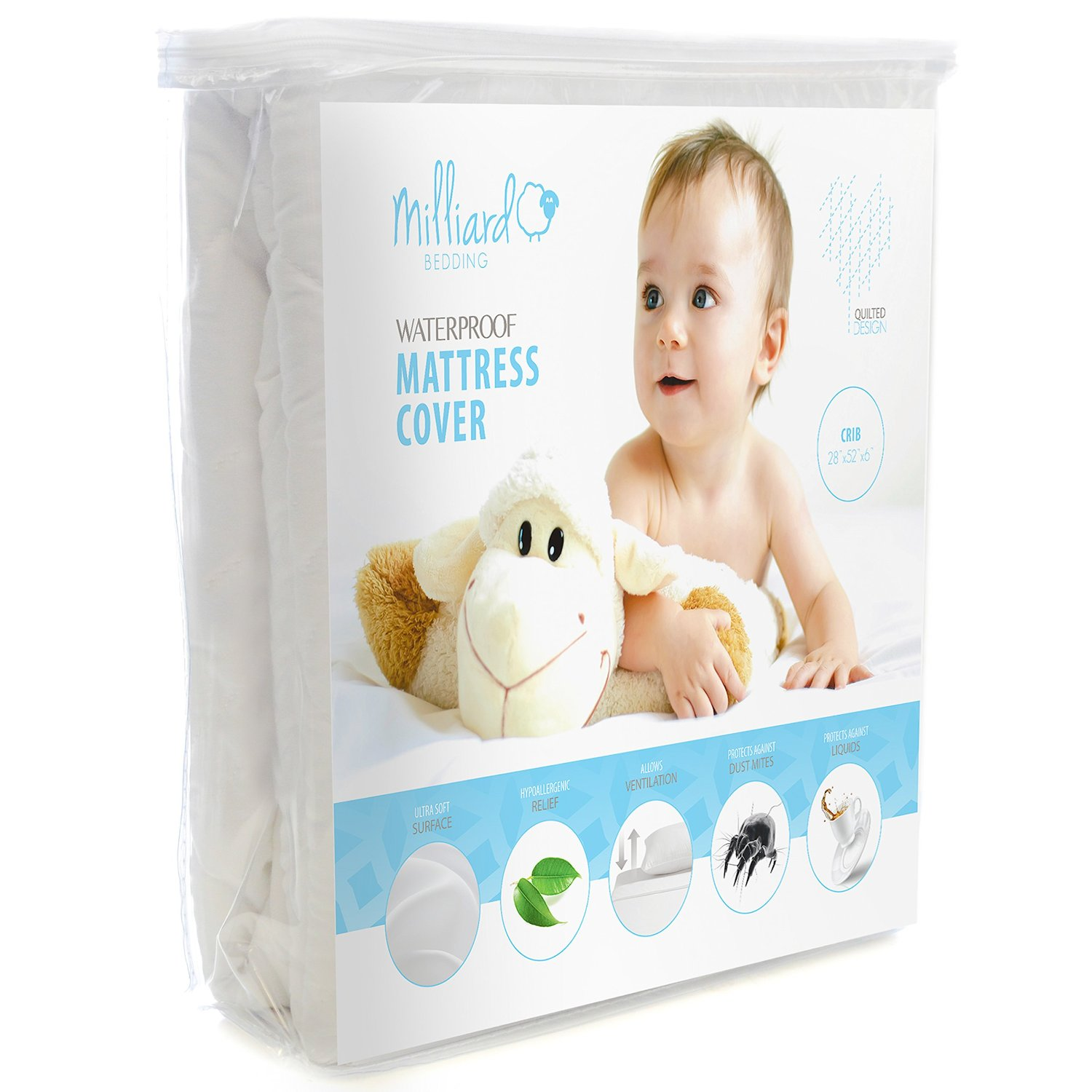 Hypoallergenic Waterproof Quilted Crib Mattress Pad