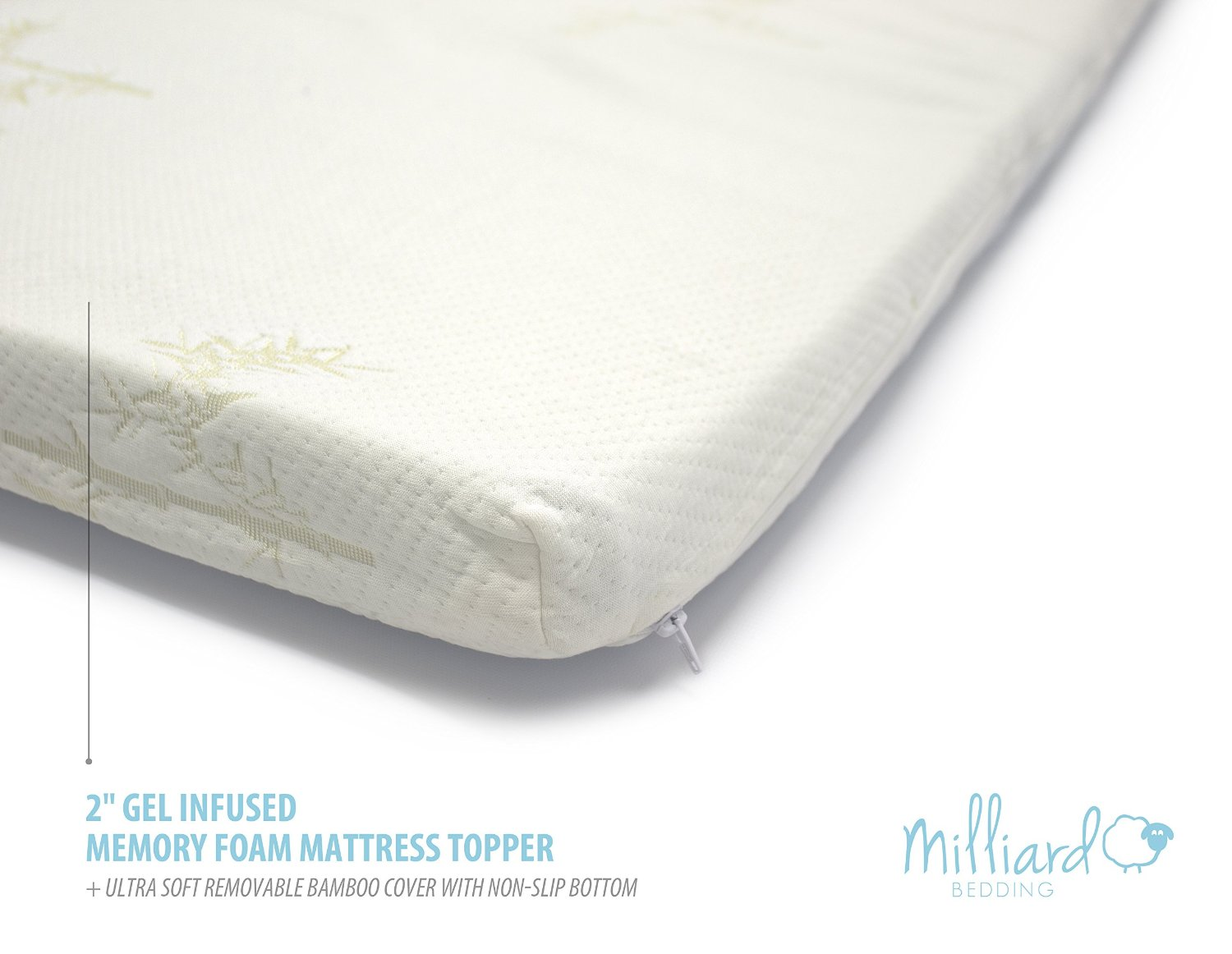 Gel Infused Memory Foam Mattress Topper Bamboo Cover Twin Milliard Bedding The Ultimate