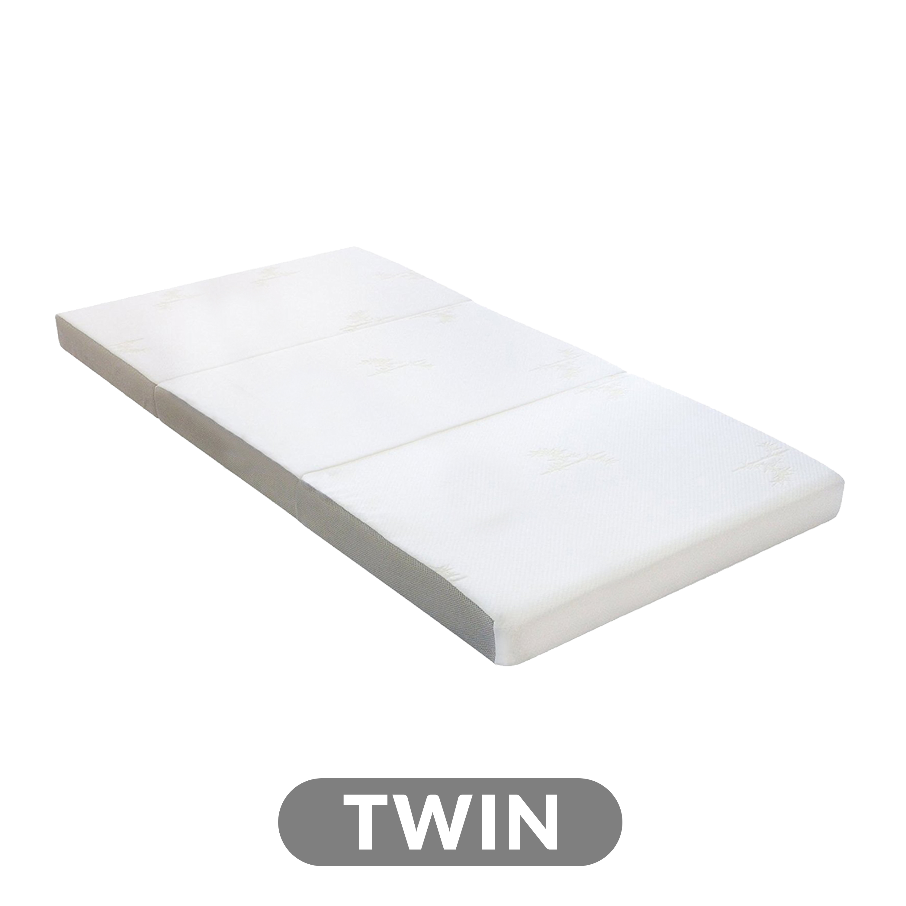 Picture of: 4 Tri Fold Foam Mattress With Cover Twin Milliard Bedding The Ultimate Sleep Experience