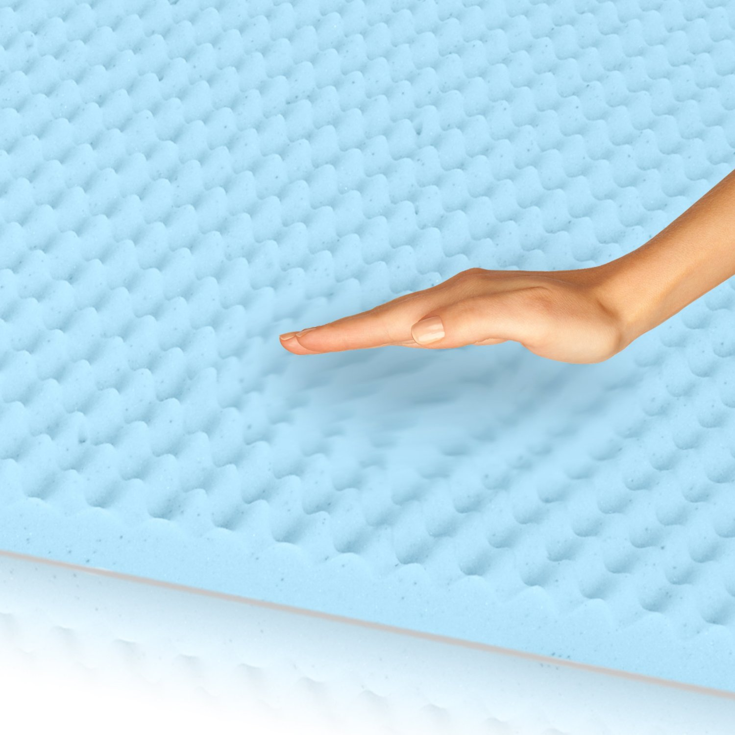 Egg Crate Gel-Infused Memory Foam Mattress Topper – Full