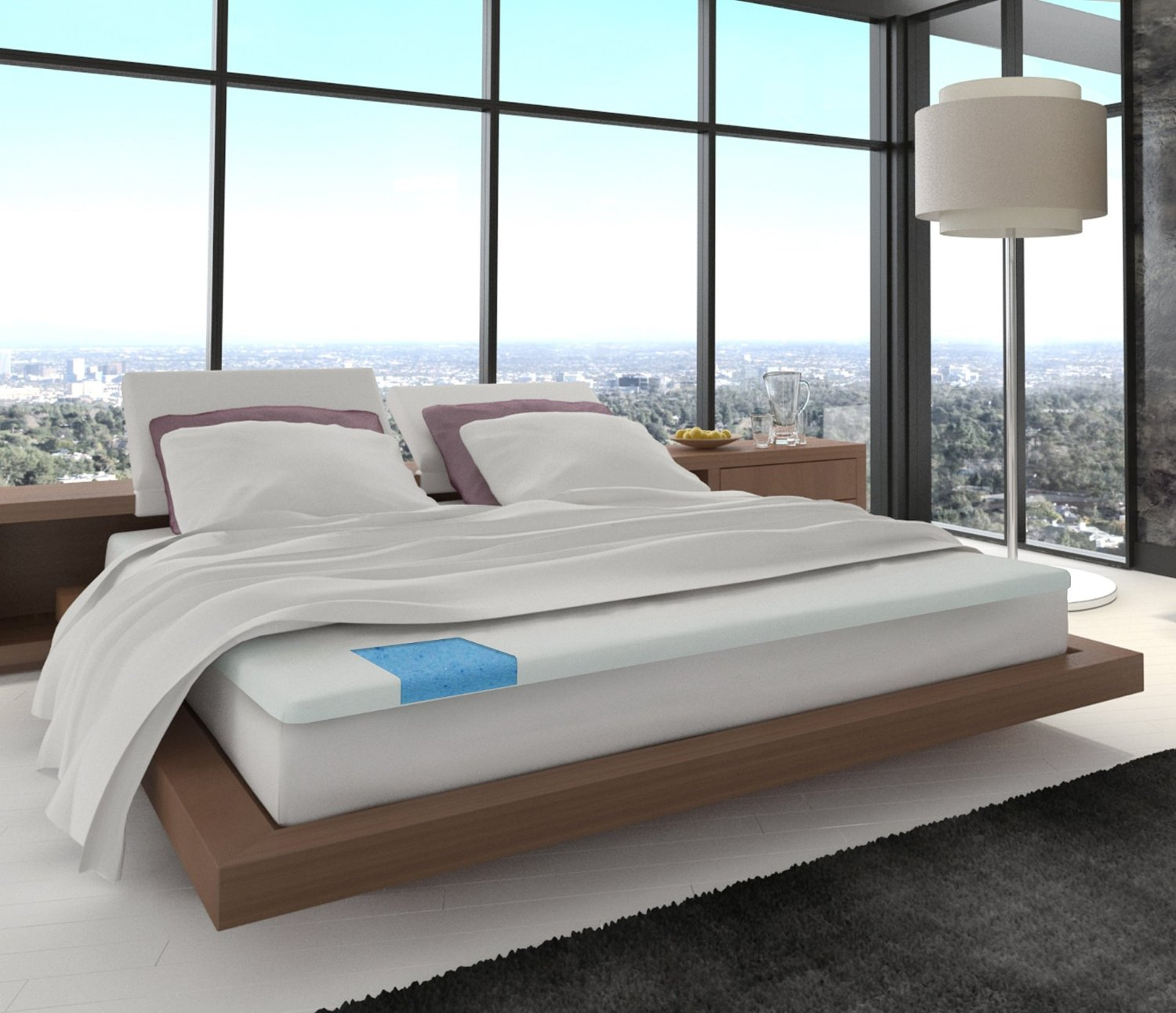 ... Memory Foam Mattress Topper + Bamboo Cover – Queen. 311 211