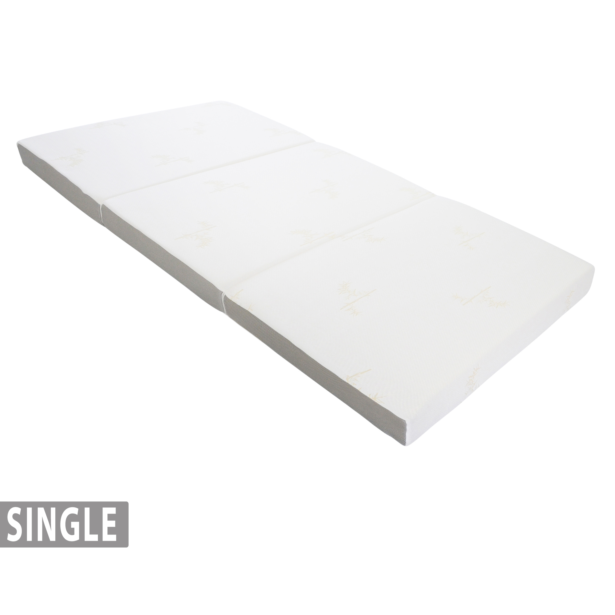 4 Tri Fold Foam Mattress With Cover Single 75 X 25