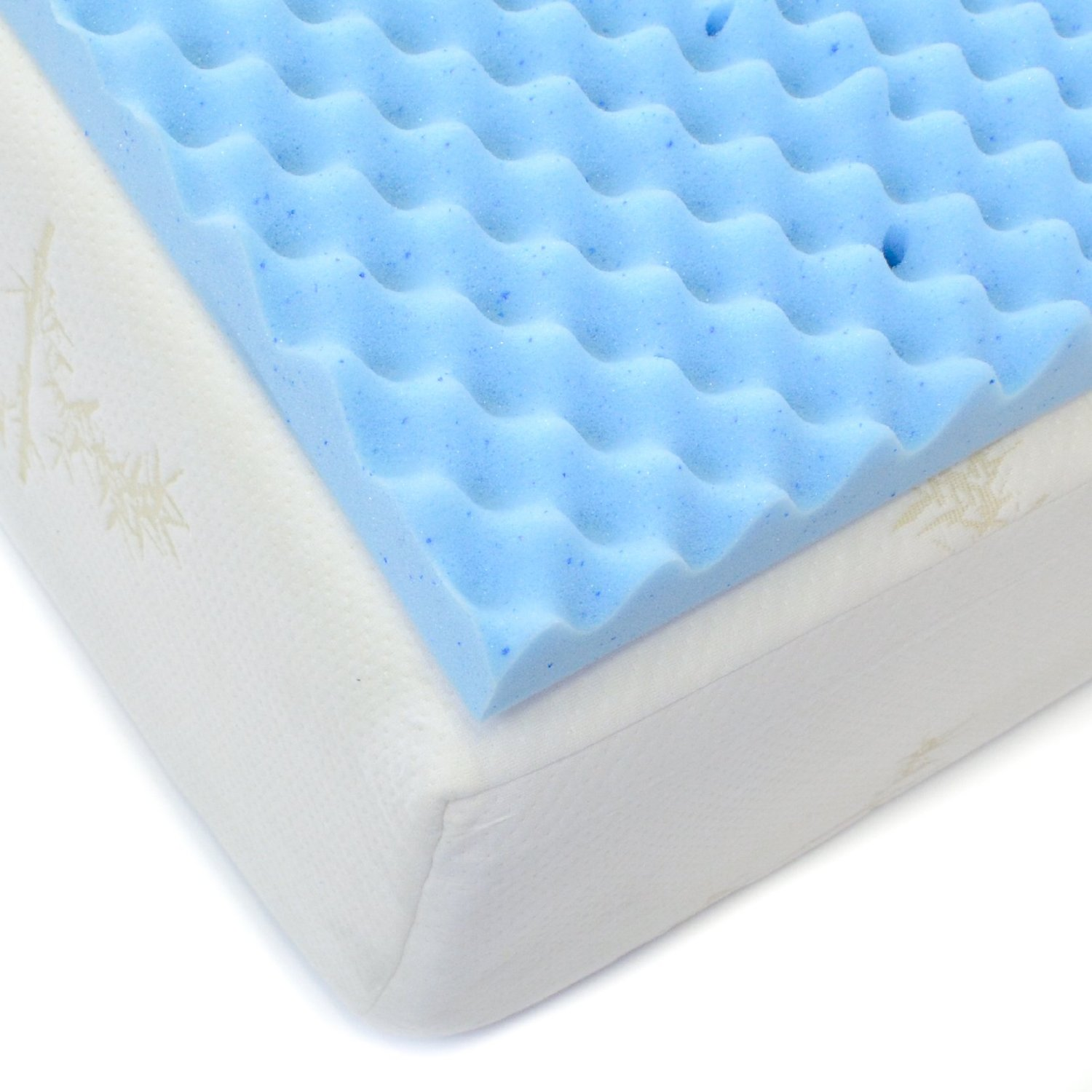 Egg Crate Gel Infused Memory Foam Mattress Topper Full Milliard