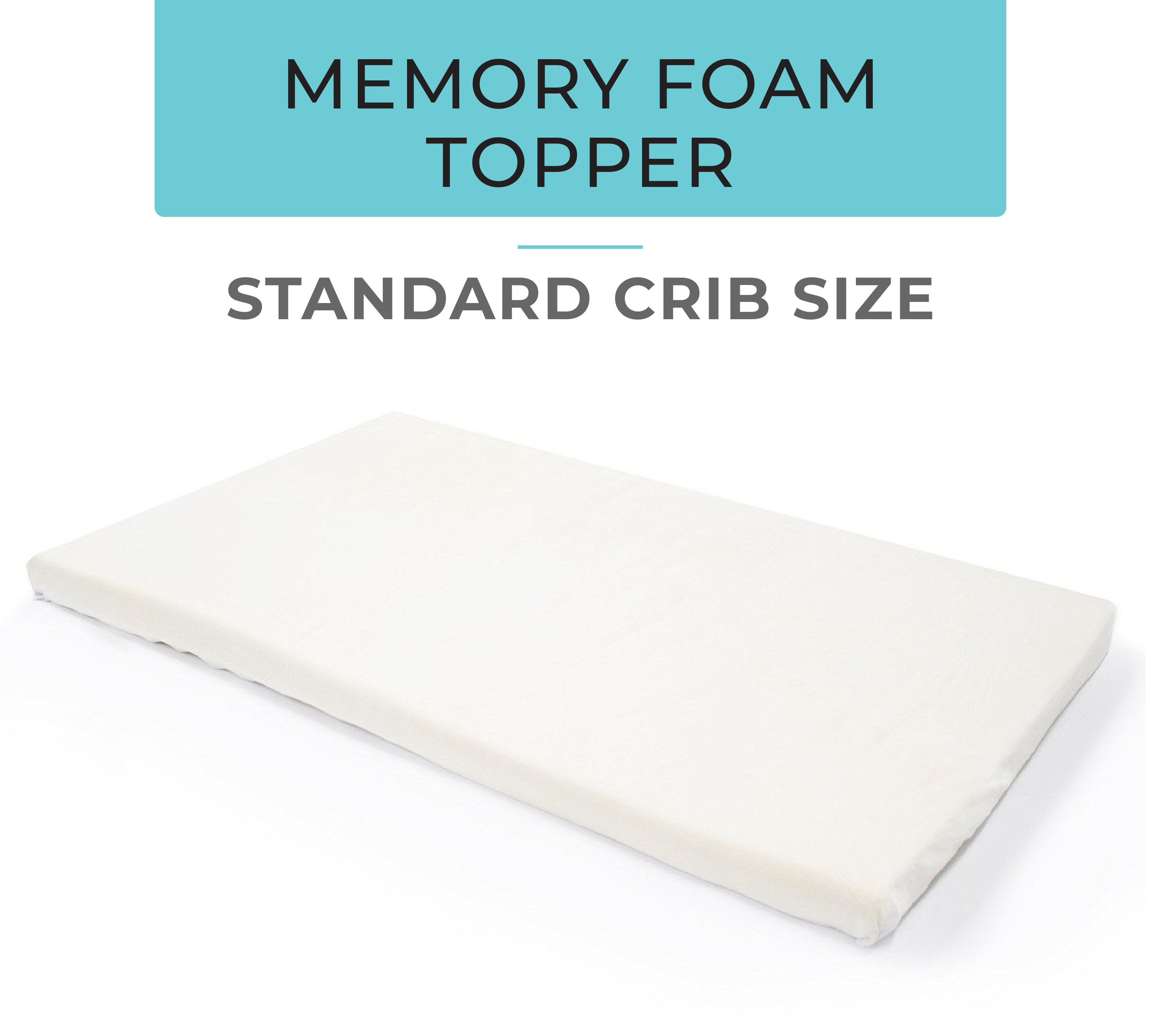 Standard Crib Memory Foam Topper Milliard Bedding The