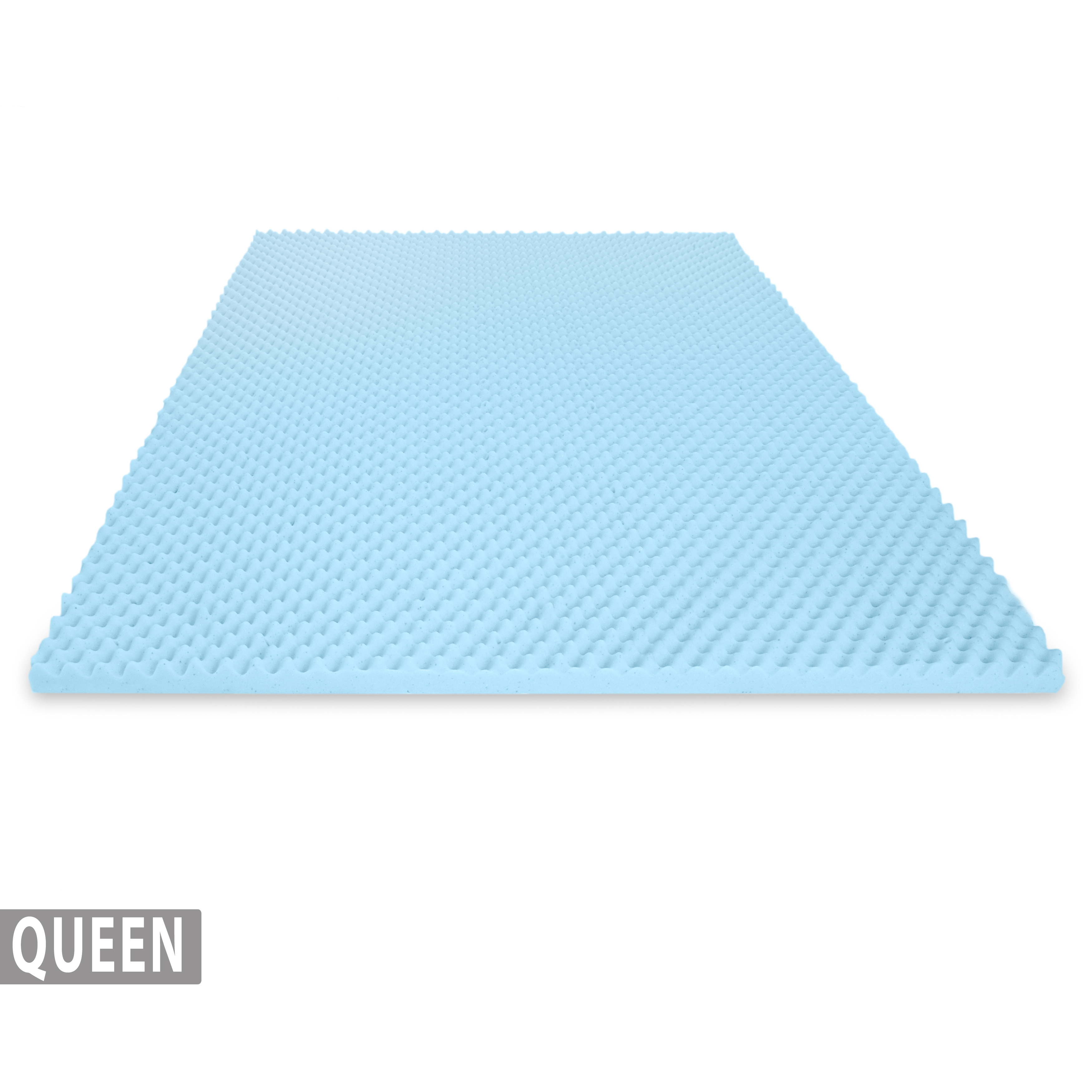 Egg Crate Gel Infused Memory Foam Mattress Topper – Queen