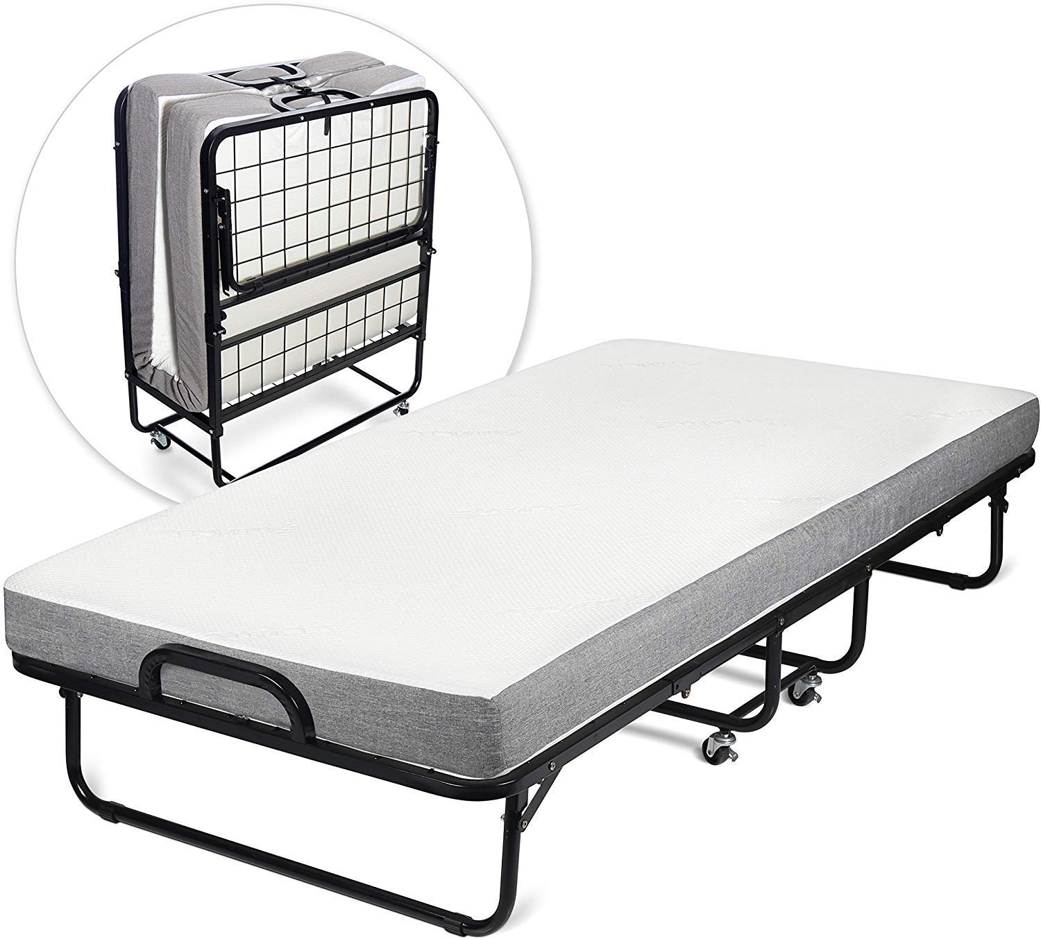 Diplomat Folding Bed With Memory Foam